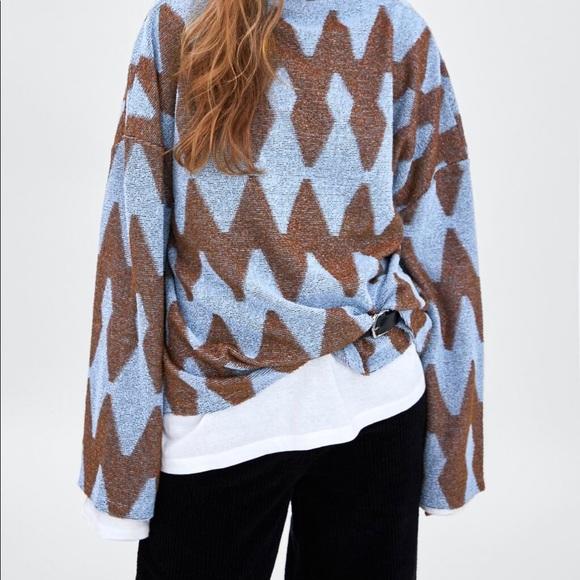 Oversized Zara Blue Sweater